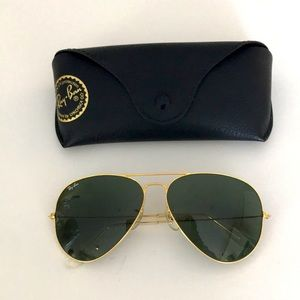 Ray Ban Gold Aviators sunglasses